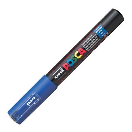 Dekormarker Uni Posca PC-1M 0.7-1 mm, kúpos, kék