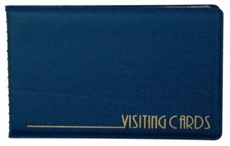 Névjegytartó, 24 db-os, Panta Plast, kék