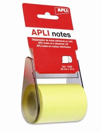 Öntapadó jegyzetpapír tekercsben, Apli, 60 mm x 10 m 10 méter/csom