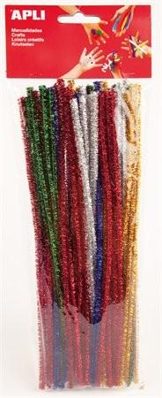 Zsenília, csilllogó, Apli Creative, vegyes színek 50 db/csom