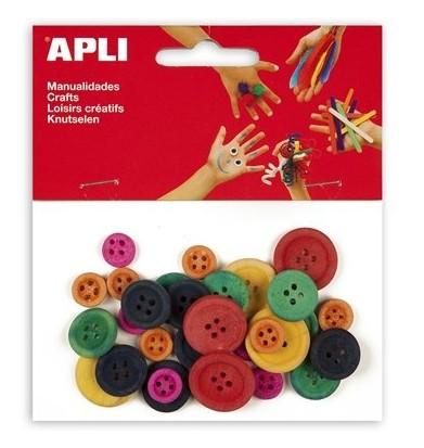 Gombok, Apli, vegyes színekben 30 db/csom