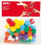 Pom-pom, APLI Creative, vegyes színek 78 db/csom