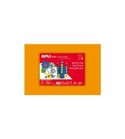 Moosgumi, 400x600 mm, Apli Eva Sheets, narancssárga 5 ív/csom