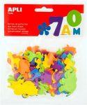 Moosgumi, állatok, Apli Eva Sheets, vegyes színek 100 db/csom