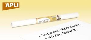 Öntapadó tábla, táblamarkerrel írható, Apli, fehér