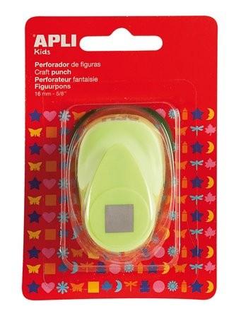Mintalyukasztó, négyzet, 16 mm, Apli Creative világoszöld 1 db/bliszt