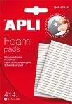 Ragasztó négyzetek, 414 db/csomag, kétoldalas, APLI 1 db/bliszt