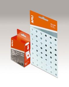 Lyukerősítő gyűrű, 13 mm átmérő, Apli, átlátszó 240 db/csom
