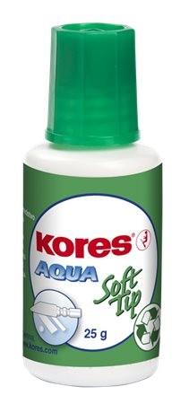 Hibajavító folyadék, vízbázisú, szivacsos, 20 ml, Kores Aqua Soft Tip (IKST)