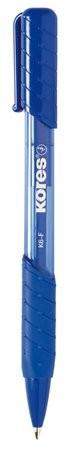 Golyóstoll, 0,5 mm, nyomógombos, Kores K6-F, kék (IK38611)