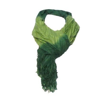 Gina női sál, harmónika, zöld (CO90420-3) (raktáron)
