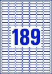 ETIKETT CÍMKE UNIVERZÁLIS 25,4x10 MM 189 DB/ÍV, 25 ÍV/CSOMAG