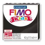 Gyurma, 42 g, égethető, Fimo Kids, fekete (FM80309)
