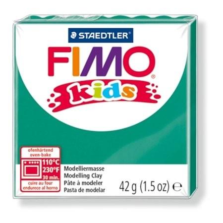 Gyurma, 42 g, égethető, Fimo Kids, zöld (FM80305)