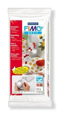 Gyurma, 500 g, levegőre száradó, Fimo Air Basic, fehér (FM81000)