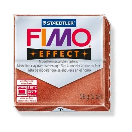 Gyurma, 56 g, égethető, Fimo Effect, metál vörösréz (FM802027)