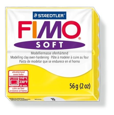 Gyurma, 56 g, égethető, Fimo Soft, citromsárga (FM802010)