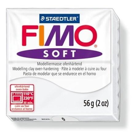 Gyurma, 56 g, égethető, Fimo Soft, fehér (FM80200)