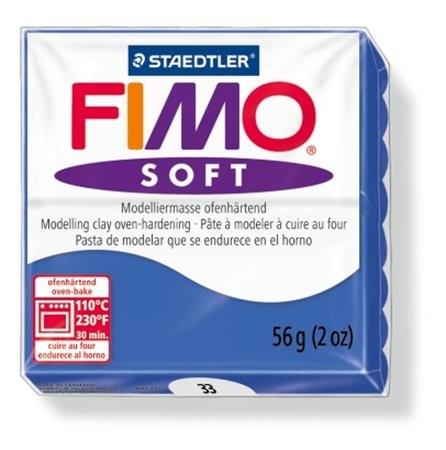 Gyurma, 56 g, égethető, Fimo Soft, fényes kék (FM802033)
