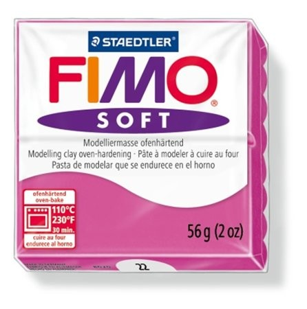 Gyurma, 56 g, égethető, Fimo Soft, málna (FM802022)