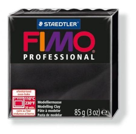 Gyurma, 85 g, égethető, Fimo Professional, fekete (FM80049)