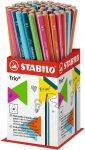 Ceruza, 2B, háromszögletű, vékony, Stabilo Trio, narancs test (369/03-2B)