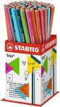 Ceruza, HB, háromszögletű, vékony, Stabilo Trio, narancs test (369/03-HB)