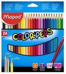 Színes ceruza készlet, háromszögletű, Maped Color'Peps, 24 különböző szín (183224)