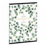 Ars Una Botanic Leaf A/5 extra kapcsos füzet - négyzethálós