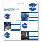 NASA csomagolt füzetcímke (3*6 db)