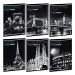 Ars Una Cities by night A/4 extra kapcsos füzet-vonalas