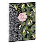 Ars Una Floral Kakadu A/4 extra kapcsos füzet-vonalas
