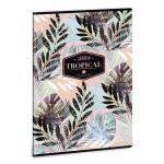 Ars Una Tropical Leaf A/4 extra kapcsos füzet-négyzethálós
