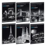Ars Una Cities by night A/4 extra kapcsos füzet-négyzethálós