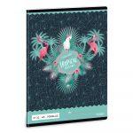 Ars Una Pink Flamingo A/5 vonalas füzet 2132