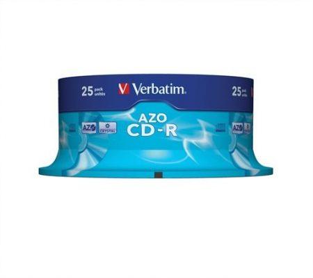 CD-R lemez, Crystal bevonat, AZO, 700MB, 52x, hengeren Verbatim DataLife Plus (43352)