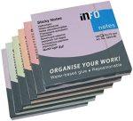 Öntapadós jegyzettömb Info Notes 75x75 mm 100 lapos Harmony, többszínű (5854-80)