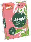 REY Adagio színes másolópapír, neon málna, A4, 80 g, 500 lap/csomag (code 13)