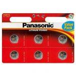 Panasonic lithium gombelem CR2016 L 3V 6 db/csomag