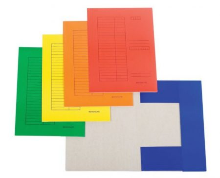 Iratgyűjtő (pólyás dosszié) A/4 Standard színes karton, táblázatos, sárga