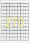ETIKETT CÍMKE UNIVERZÁLIS 17,8X10 MM 270 DB/ÍV, 27000 DB/CSOMAG